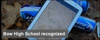 Bow High School receives national recognition for GIS app to map trash